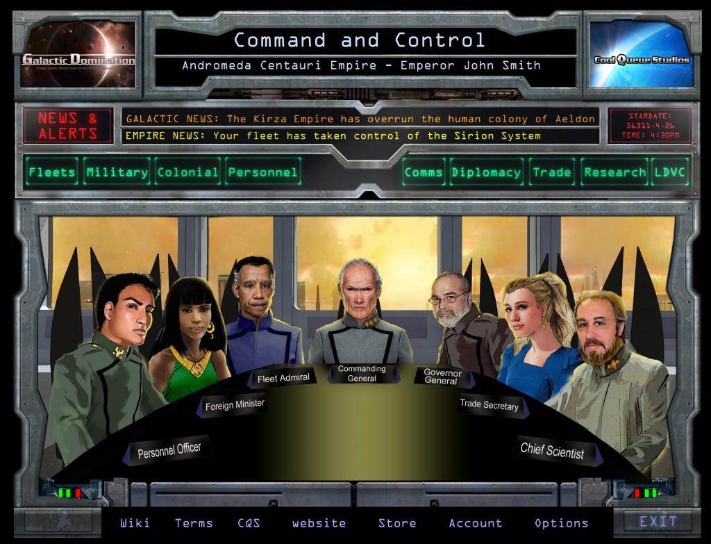 Command & Control UI (human) graphical screen mockup