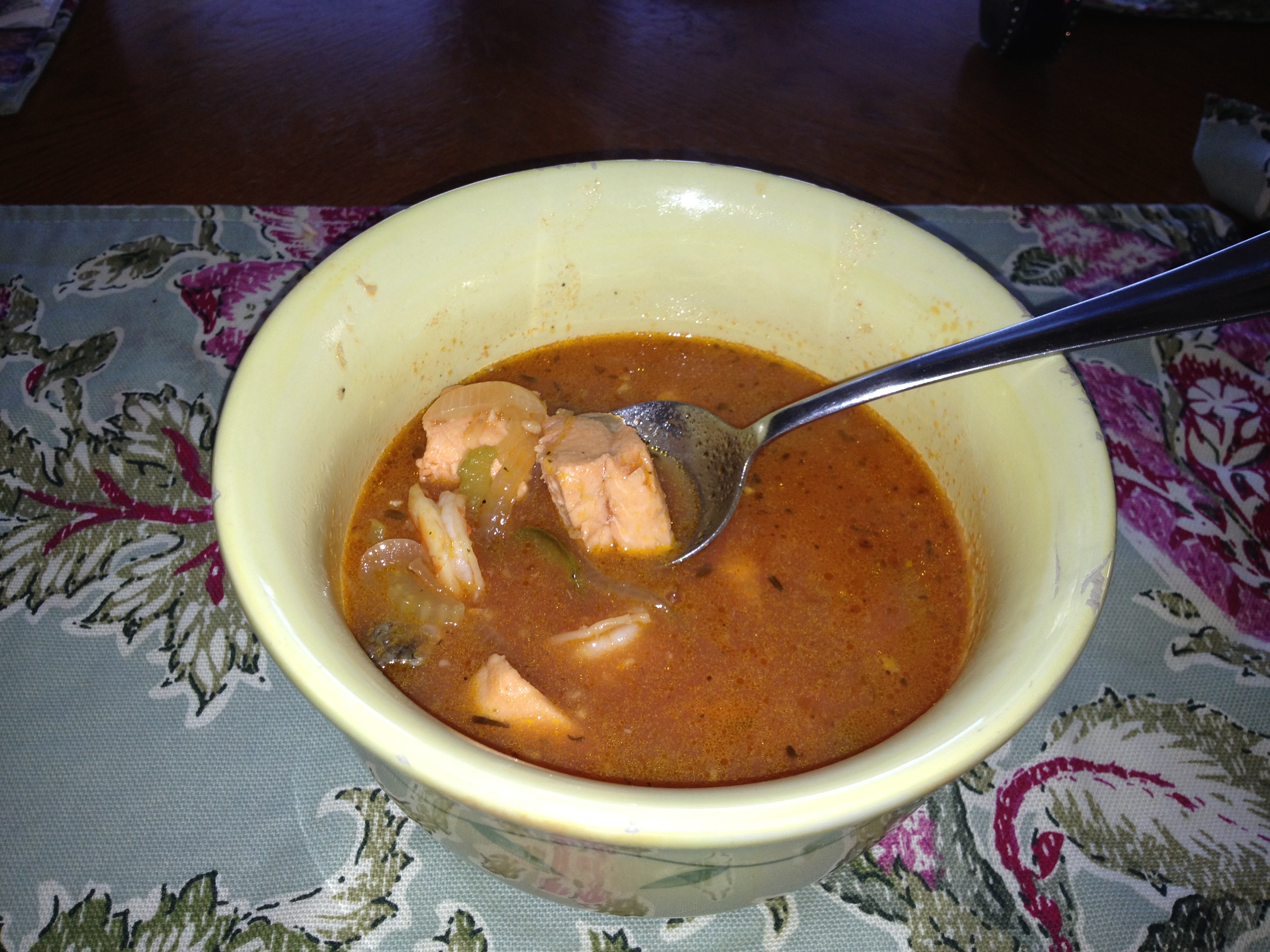 Steelhead and Tomato Stew (Low-Carb)